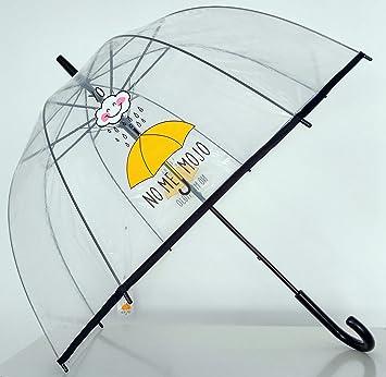 """Paraguas Transparente de Mujer. Paraguas Automático de Mujer con la frase """"Yo no"""