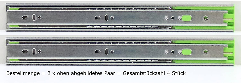 Schubladenschienen Schubladenausz/üge Teleskopausz/üge Selbsteinzug D/ämpfer Vollauszug Softclose L/ängen in 250,300,350,400,450,500,550,600,650,700mm,H/öhe 45mm,L/änge 300mm,1-8 Paare,1 Paar=2 St/ück