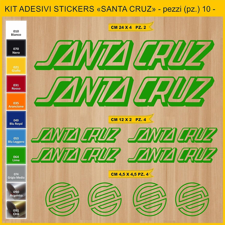 Kit Pegatinas Stickers Bicicleta Santa Cruz -Kit 4-10 Piezas- Bike Cycle Cod. 0894 (064 Verde Lime): Amazon.es: Deportes y aire libre