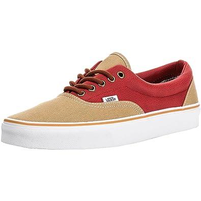 2307ef411d Vans Era Leather Quarter Canvas Unisex Khaki Red  Amazon.de  Schuhe ...