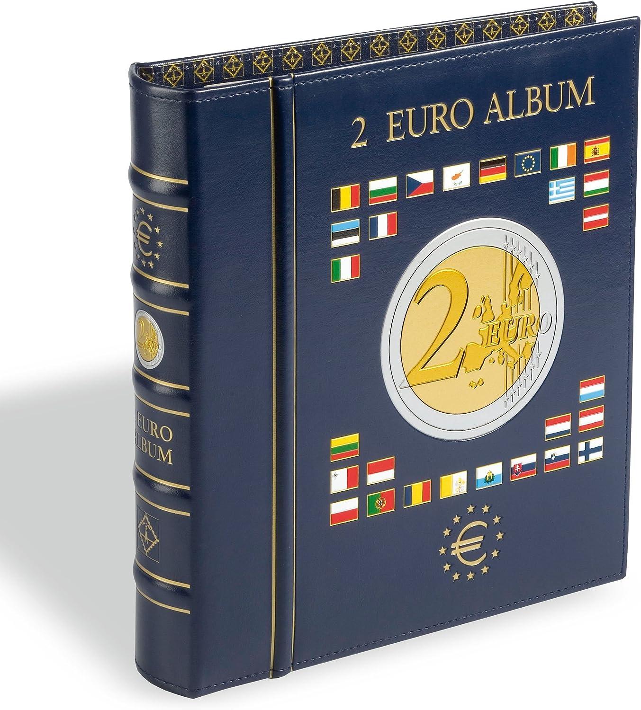 pour pi/èces comm/émoratives de 2 Euros E.M.U. Leuchtturm Feuilles Numismatiques VISTA