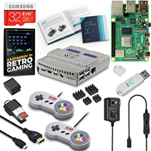 Vilros Raspberry Pi 4 SNES Stlye Retro Gaming Kit-Includes 2 SNES Style Gamepads and SNES Style Case (4GB RAM)