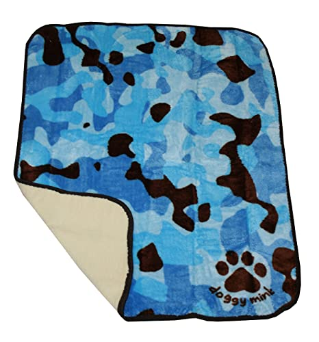 Amazon.com: Doggy Mink Sherpa de lujo Manta de perro mascota ...