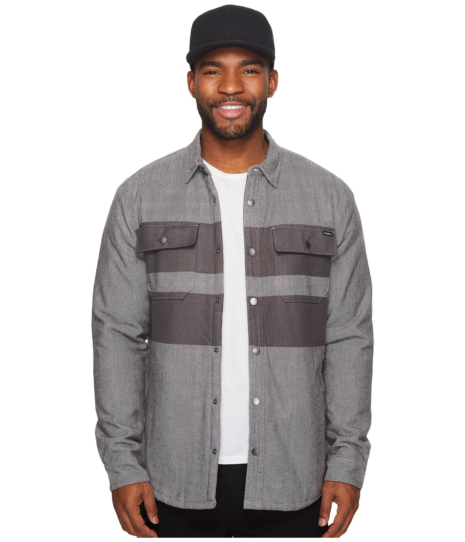 O'Neill  Men's Willy Woolrich Lined Flannel Wovens Grey Small