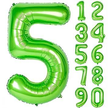 Amazon.com: 40 pulgadas verde números grandes 0 – 9 ...