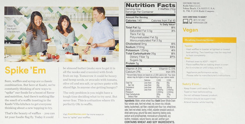 kashi frozen waffles nutrition facts