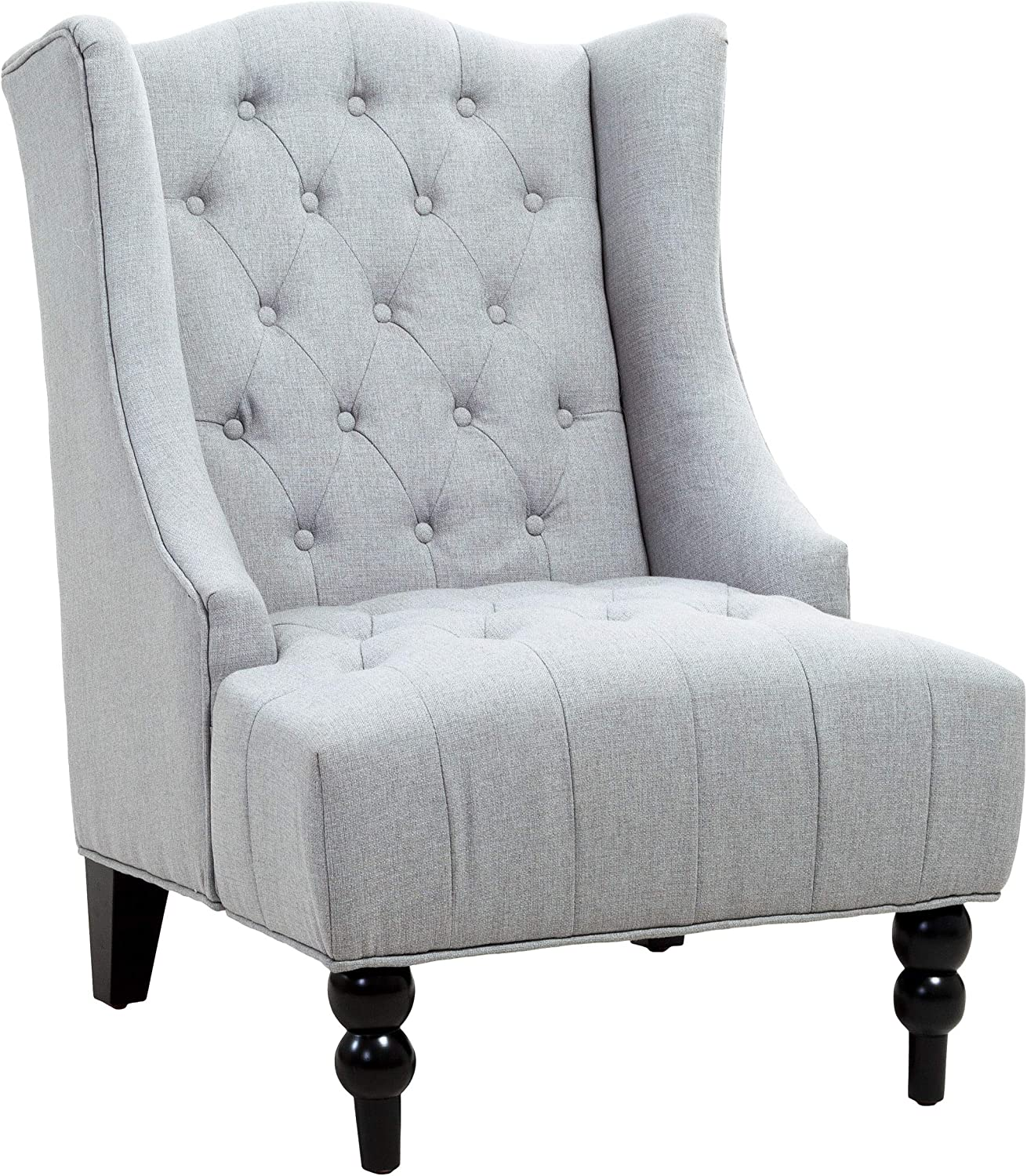 Christopher Knight Home Toddman High Back Chair, Silver