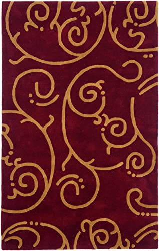 Structure Archer Rug, 8-Feet by 11-Feet, Burgundy