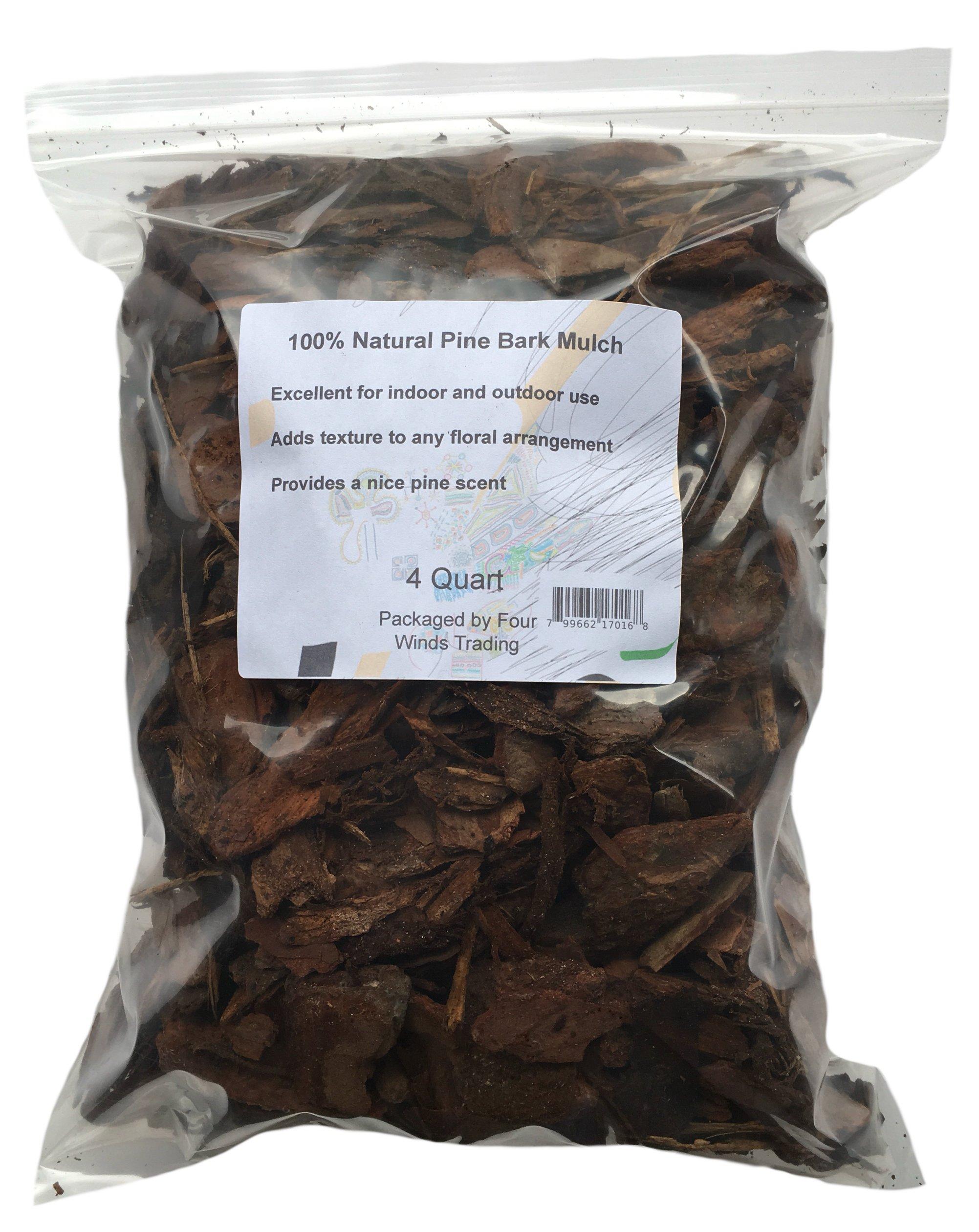 100% Pine Bark Mulch (4 Quart)