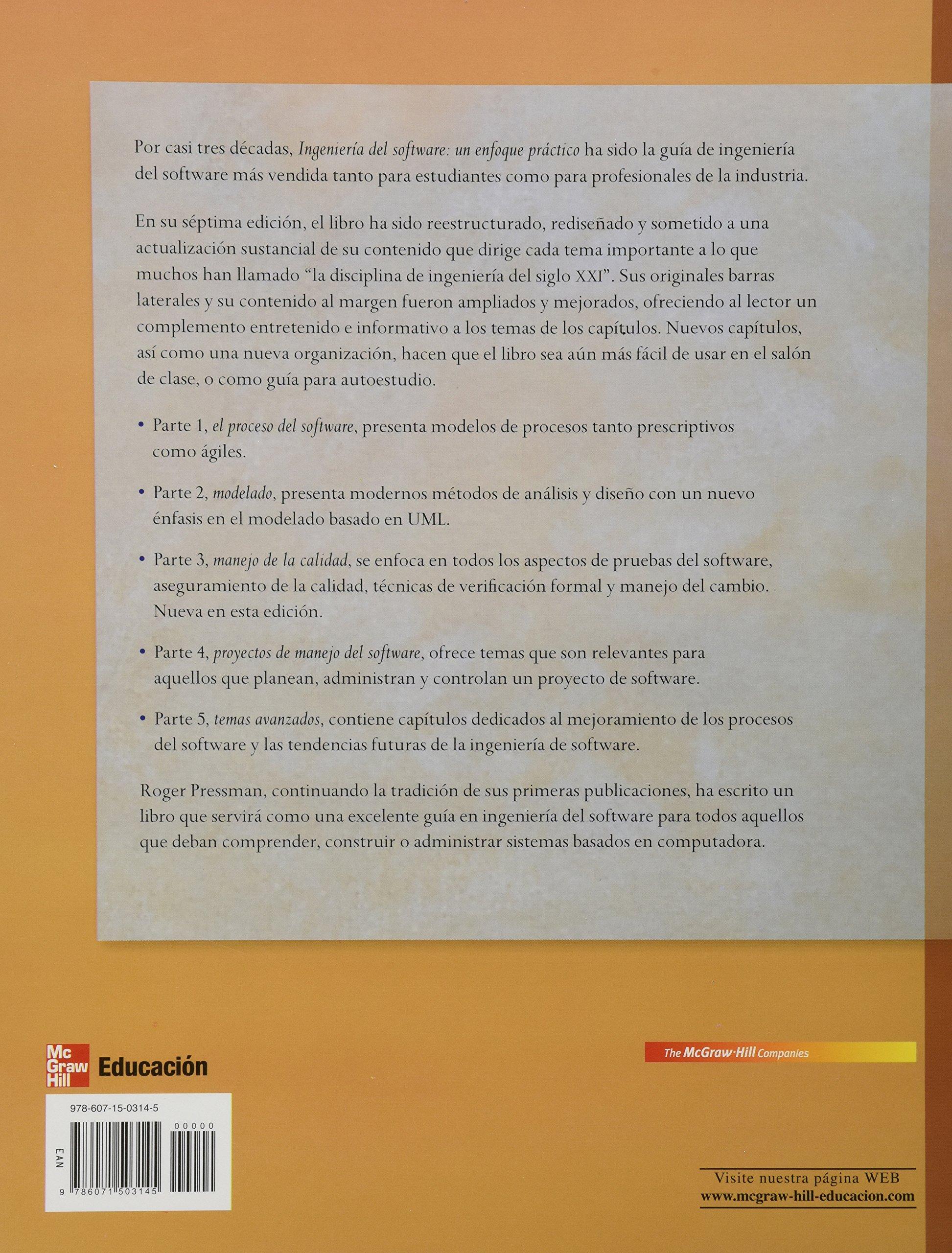 Ingenieria de Software: Amazon.es: PRESSMAN ROGER: Libros