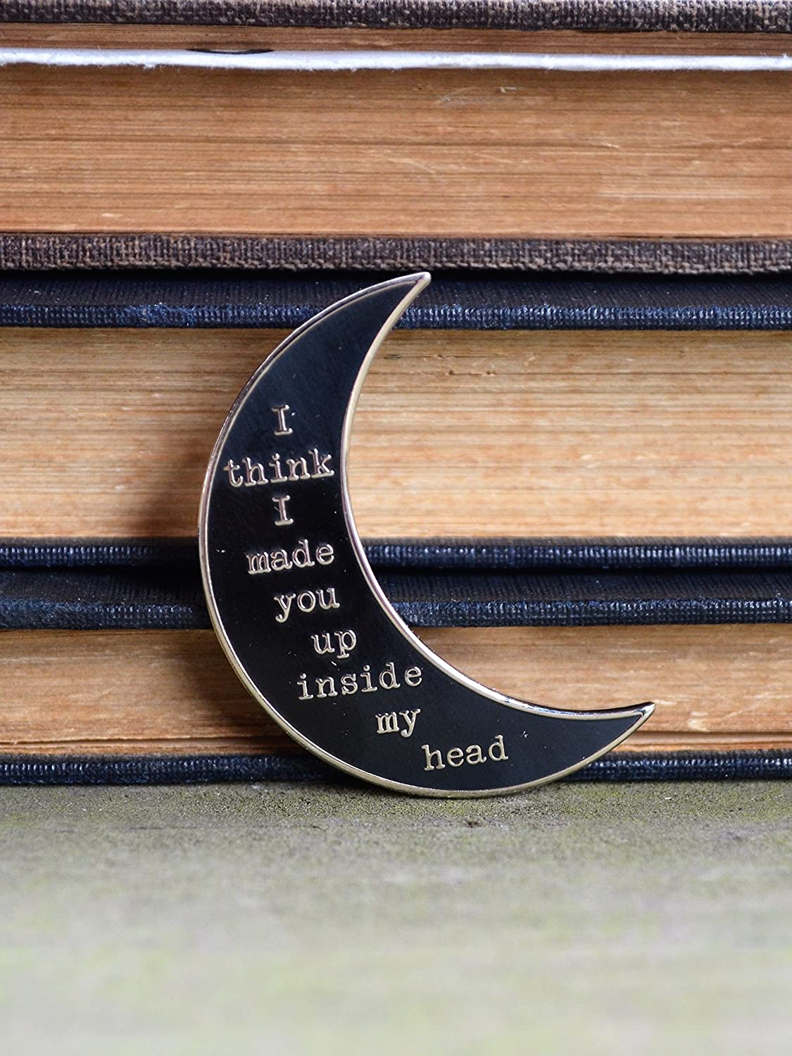 Sylvia Plath Pin Hard Enamel Pin Gifts for Writers Gifts for Readers Poetry Gift Mad Girl's Love Song Moon Pin Literary Pin Literary