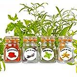 harina sal /& az/úcar resistente al agua para vasos latas y estanter/ías Etiquetas para especias Feinschmer Edition 2019 color negro//blanco 117 adhesivo para especias
