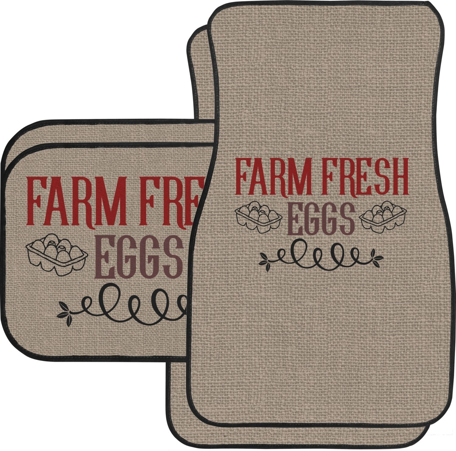 Amazon.com: RNK Shops Farm Quotes Car Floor Mats Set - 2 Front & 2 Back (Personalized): Automotive