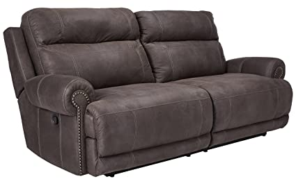 Ashley Furniture Signature Design   Austere Recliner Sofa   Manual Pull Tab  Reclining Couch   Contemporary