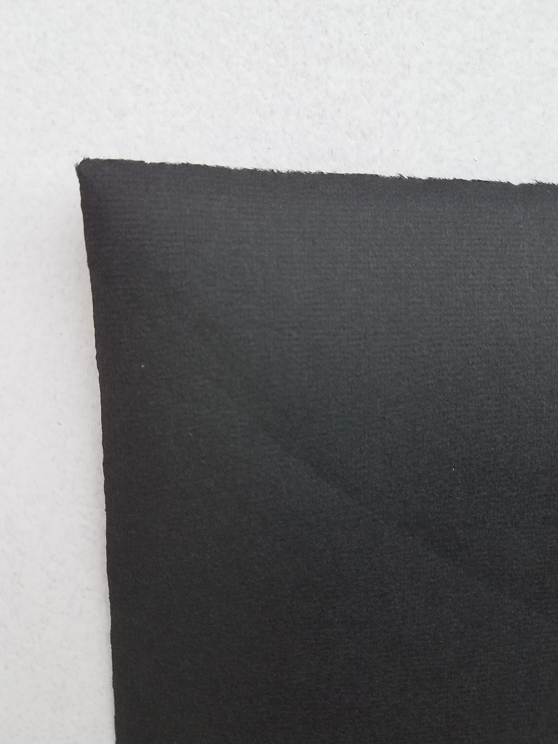 Hahnemuhle Ingres Paper, Black 114, 19'' X 25'', 100 gsm (25 Sheet Package) by Hahnemuhle Ingres Antique