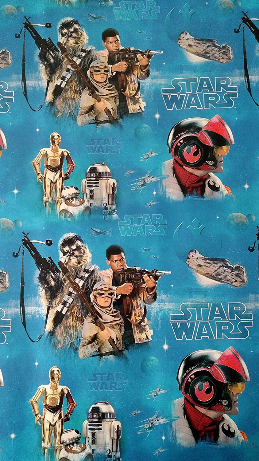 Amazon.com: Star Wars Wrapping Paper Movie Gift Wrap, 22.5 Sq Ft ...