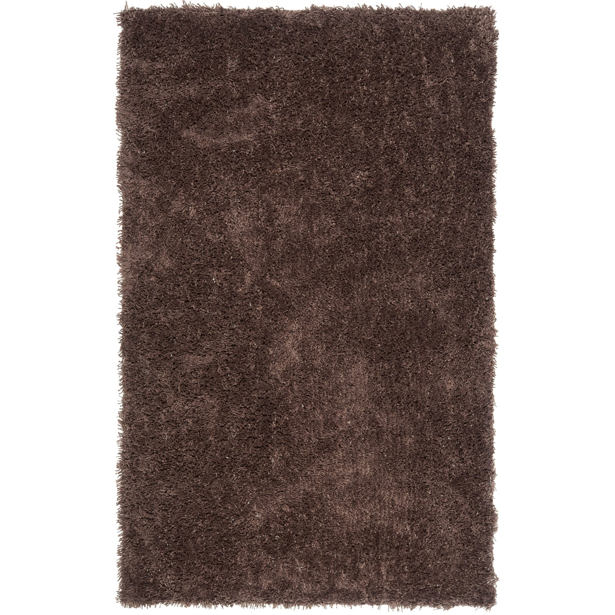 Safavieh Classic Shag Collection SG240E Handmade Chocolate Area Rug (4' x 6') by Safavieh