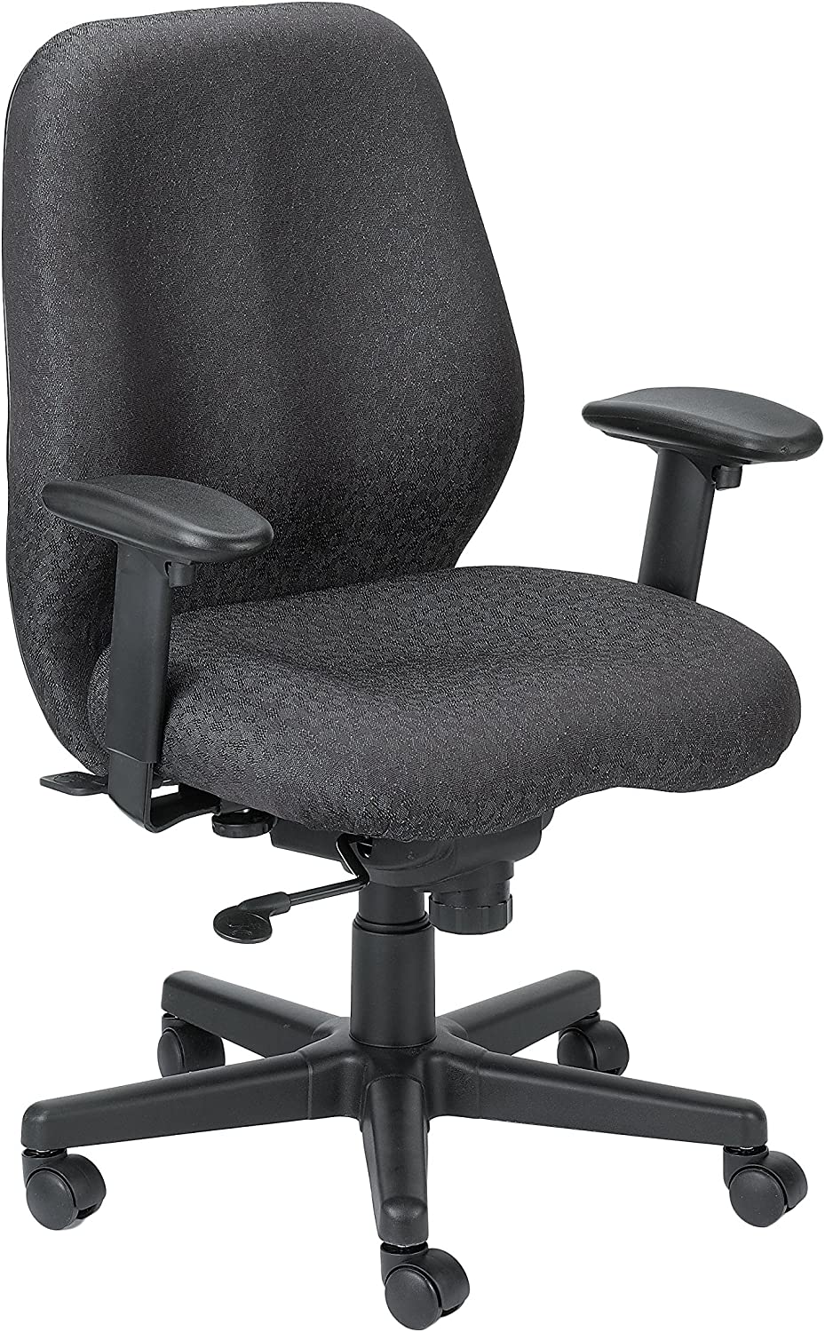 Eurotech Seating Aviator Swivel Tilt Chair, Charcoal