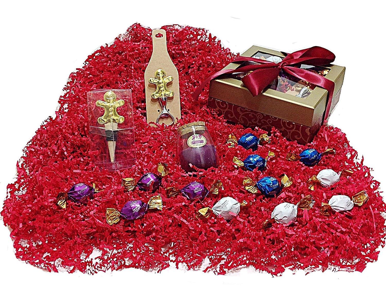 Wine Christmas Holiday Gift Box - Godiva Gourmet Chocolate Truffles ...