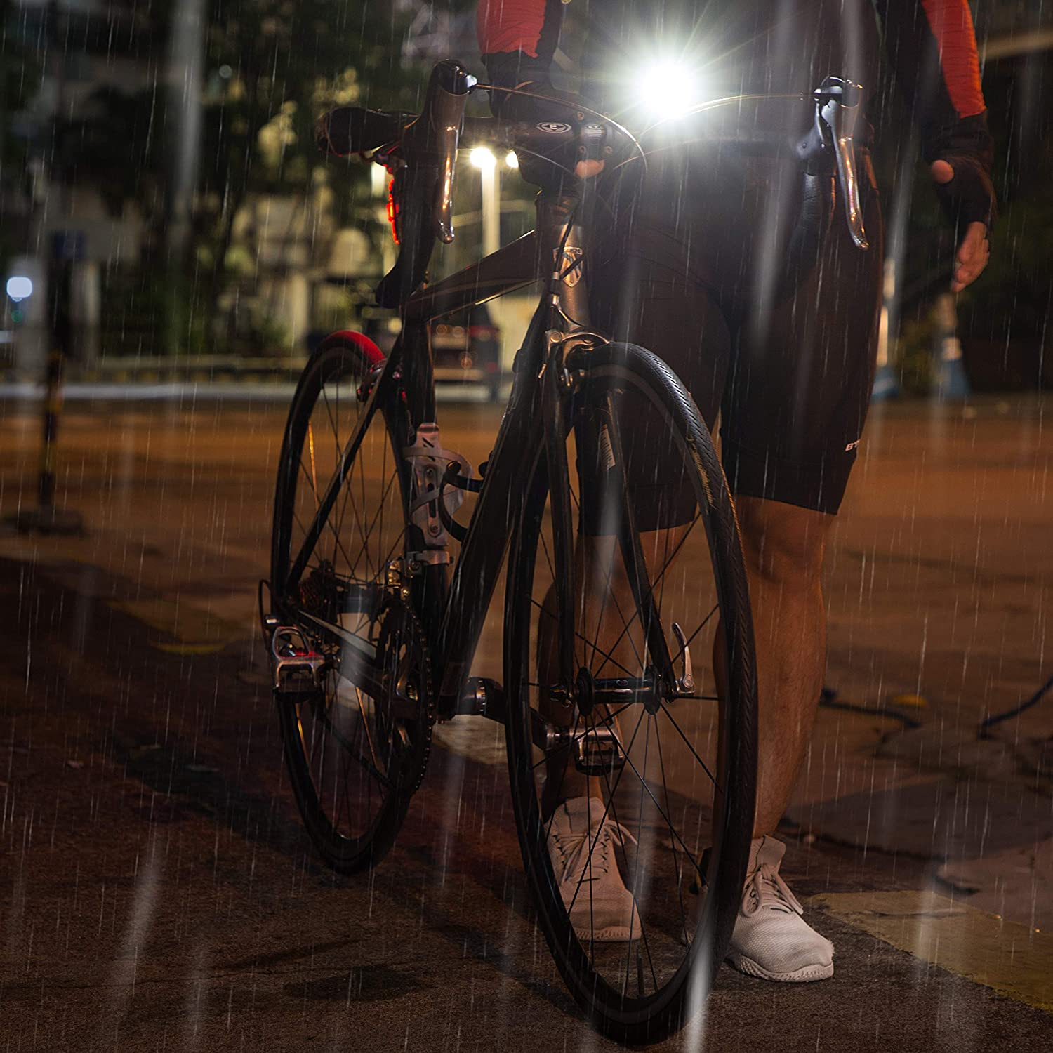 Apace Vision GlareFX Pro800 Bike Light Set USB Rechargeable Powerful Bicycle Headlight /& LED Tail Light Combo 800 Lumens Super Bright IPX6 Waterproof MTB Road Commuter Front and Back Cycle Lights