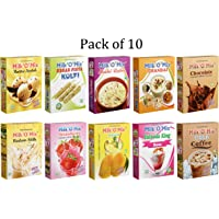 Milkomix 10 Different Instant Milk Flavor Powder – Pack of 10