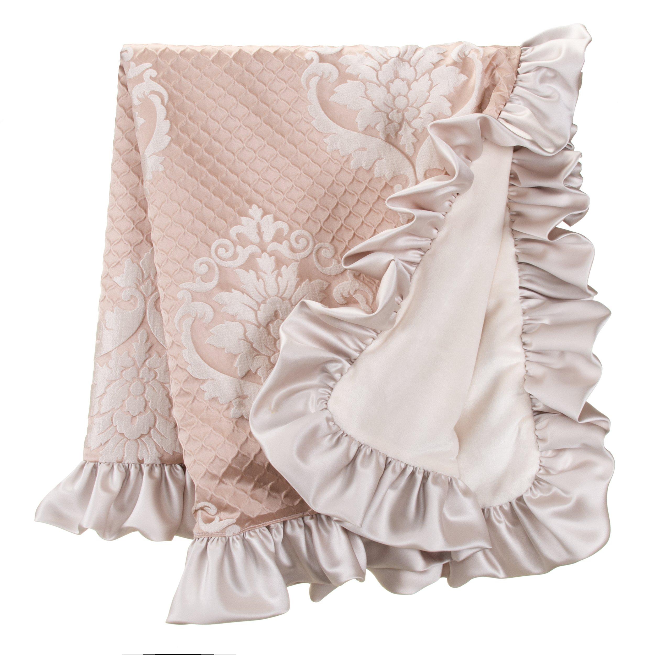 Glenna Jean Angelica Quilt, Pink, 54''x42'' by Glenna Jean