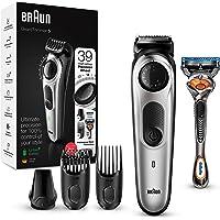 Braun Beard Trimmer BT5260 and Hair Clipper for Men, Lifetime Sharp Blades, 39 Length Settings, Black/Silver Metal, UK…