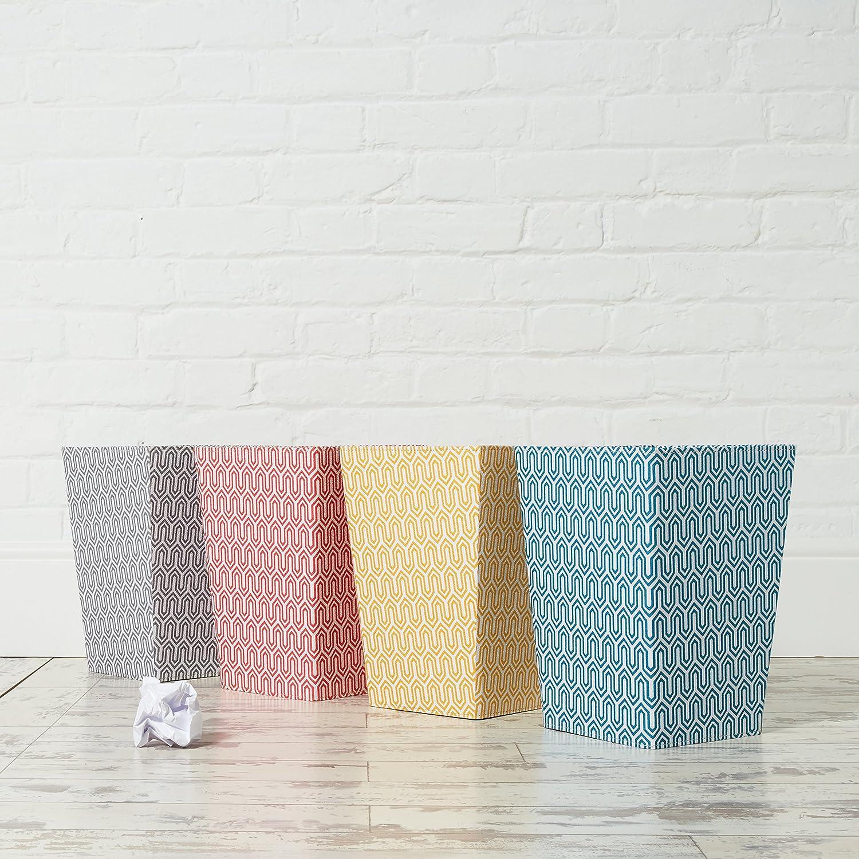 Graphic Geometrische Papierkorb grau