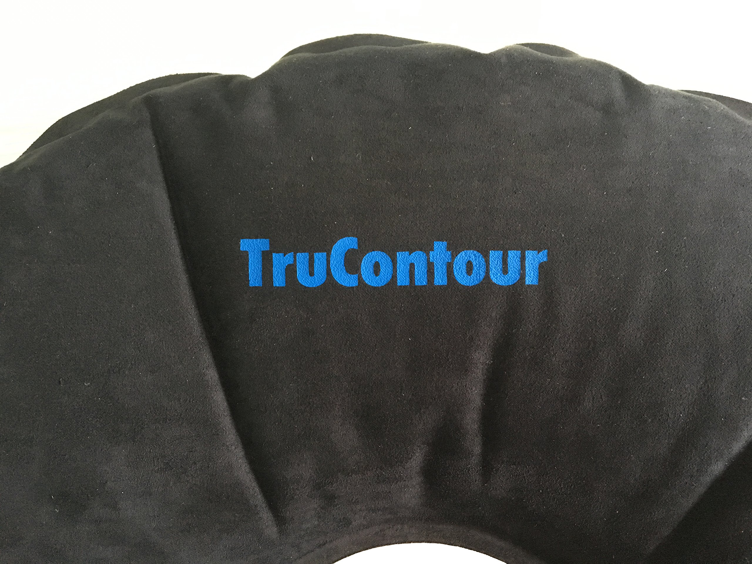 Self Inflatable Donut Cushion for Hemorrhoids, Tailbone, Coccyx, Prostate, Pregnancy, Postnatal and Pressure Sore Issues. Air Pillow Plus Internal Memory Foam Ring. Easy to Transport. (Black) by TruContour (Image #6)