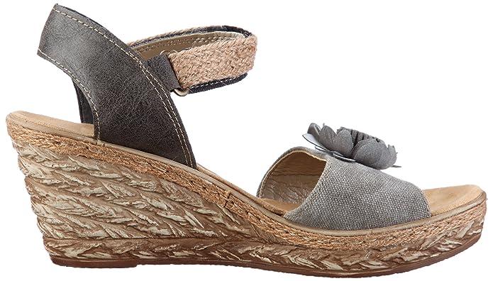 22eca235728a Rieker 69464-45 Fashion Sandals Womens Gray Grau (smoke stein 45) Size  6  (39 EU)  Amazon.co.uk  Shoes   Bags