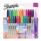 Sharpie Electro Pop Limited Edition Permanent Ink Markers- (Pack Of 24)