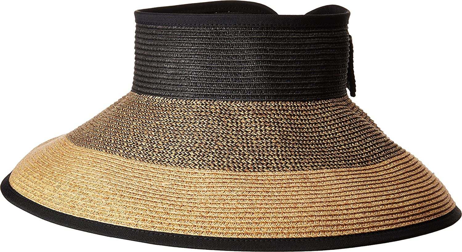 San Diego Hat Company Womens UBV038 Roll Up Visor with Bow Closure
