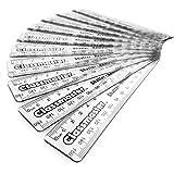 Transparent 15cm Shatterproof Plastic Rulers (Pack of 12)