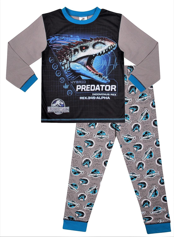Universal Jurassic World Dinosaur Hybrid Predator Long Boys Pyjamas