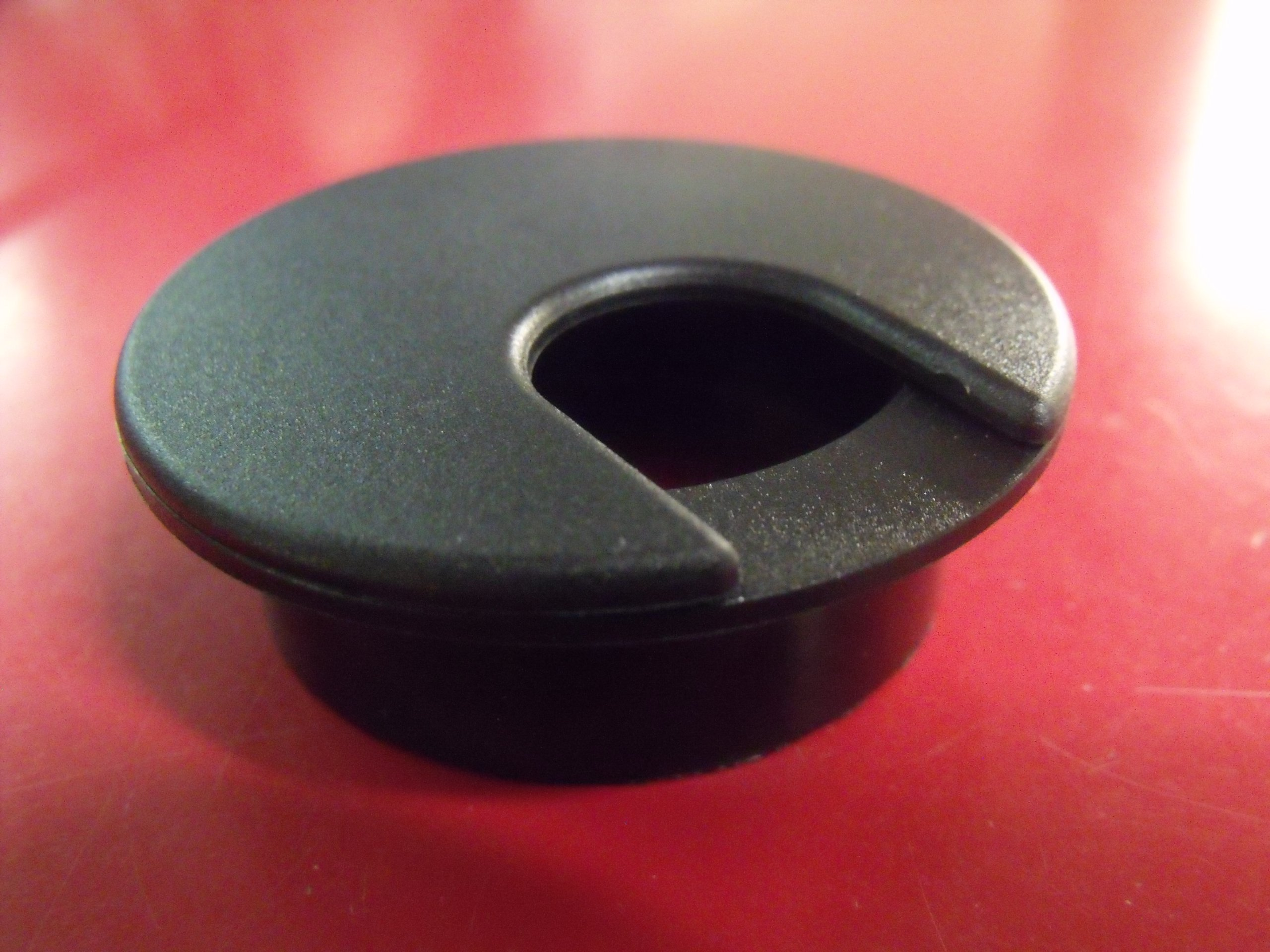 2'' Black Desk Grommet (10 Pack)