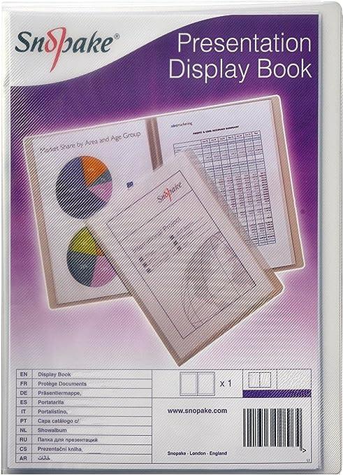 Snopake Superline Presentation Book A3 20 Pockets