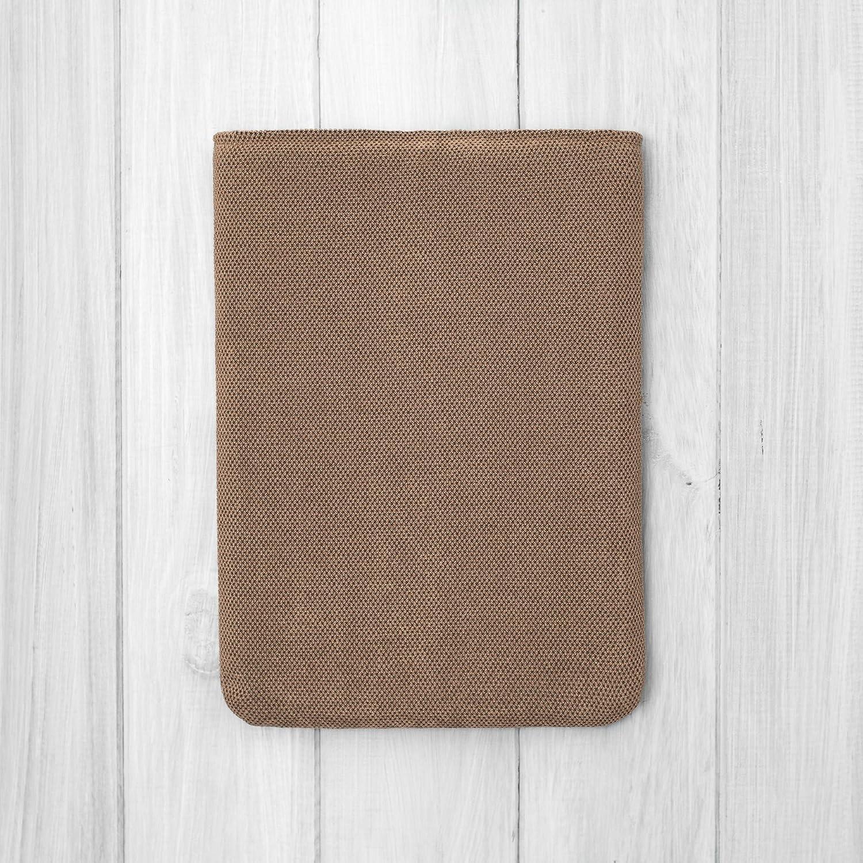 HOUSSE///étui//pochette pour tablette 10.2 iPad Pro 9.7 10.5 11 12.5 Mini and Air//tissu doux brun//Rembourr/é