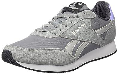 Reebok Damen Royal Classic Jogger 2 Sneaker Grau (Flint Grey/Noir Skull Grey/Ash Grey/White/Black) 37 EU