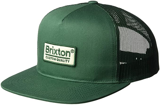 bcc88576309 Amazon.com  Brixton Men s Palmer Medium Profile Adjustable Mesh Hat ...