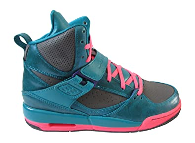 Jordan - Basket Air Femme Flight 45 GS Turquoise Rose Grise ...