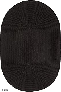 product image for Rhody Rug Madeira Indoor/Outdoor Braided Rug Black 4' x 6' Oval Synthetic, Polypropylene Reversible 4' x 6' Outdoor, Indoor Oval