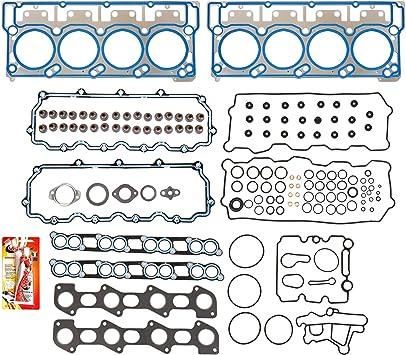 Cylinder Head Studs Bolts Kit for Ford 6.0L V8 Diesel Powerstroke Engine 2003-2007 Super Duty Dowel Pin 250-4202