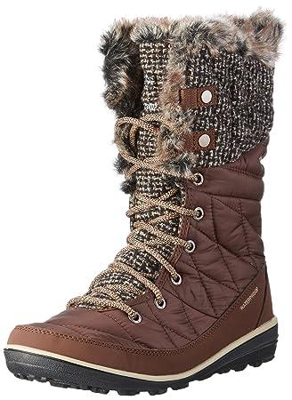 Columbia Women's Heavenly OmniHeat Knit Tobacco/Dark Mirage Boot 5 B M