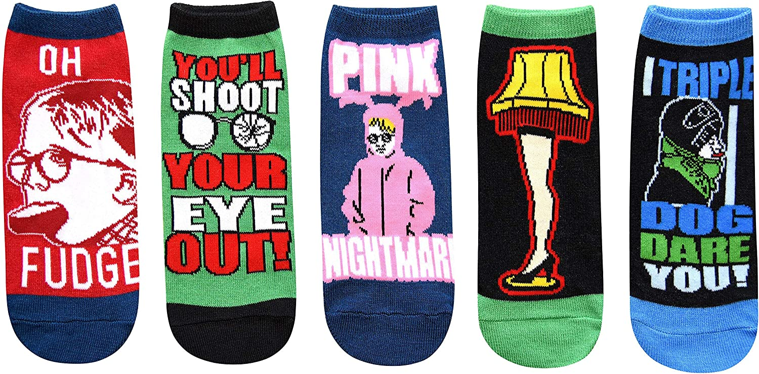 Hyp A Christmas Story Juniors/Womens 5 Pack Ankle Socks