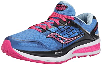 Saucony Womens Triumph Iso 2 Trail Running Shoes       Blue Blue Pink