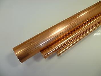 1 mtr. B/&T Metall Kupfer E CU Rundstangen /Ø 30,0 mm L/änge ca 1000 mm +0//-5 mm