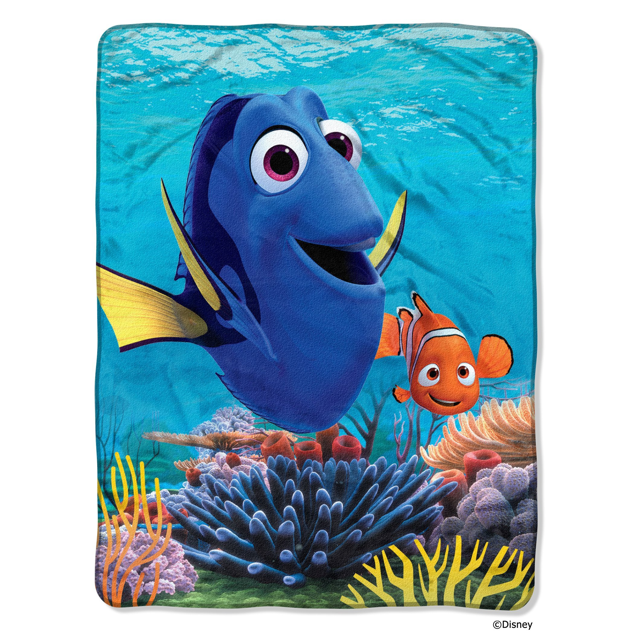 Northwest Disney Pixar Finding Dory, Deep Sea Silk Touch Throw by The Company, 46'' by 60''