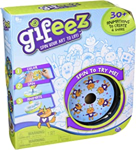 Gifeez, Spinning GIF Art Studio, Creates Over 30 Custom Animations, for Kids Aged 6 & Up