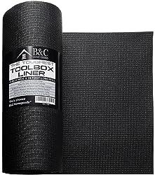 B&C 18 Inch x 24 Feet Professional Non Slip Tool Box Drawer Liner