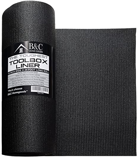 Phenomenal Professional Tool Box Liner And Drawer Liner Black 18 Inch X 24 Feet Non Slip Shelf Liner Is Perfect For Protecting Your Tools These Thick Cabinet Download Free Architecture Designs Grimeyleaguecom